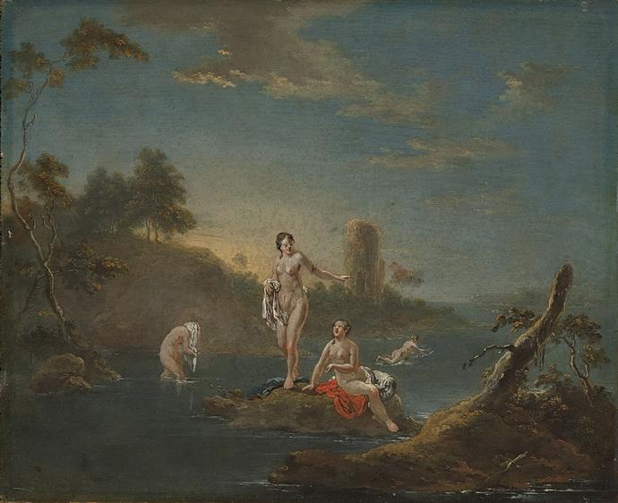 Čtyři koupající se dívky (Norbert Grund)