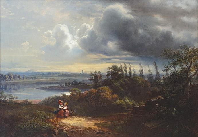 Julius T. Gruss - Krajina od Litoměřic (1858)
