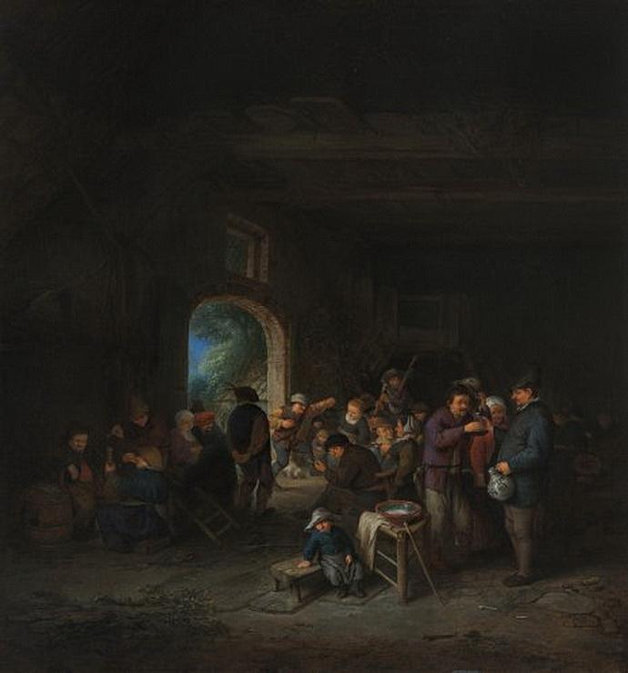 Tanec ve stodole (Adriaen van Ostade)