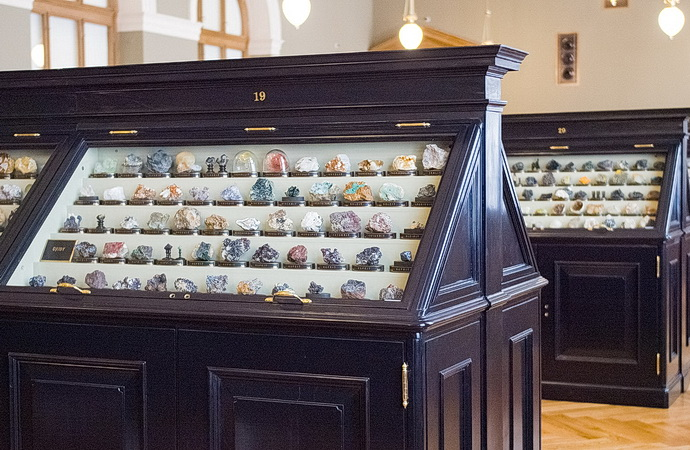 Sál minerálů Národního muzea