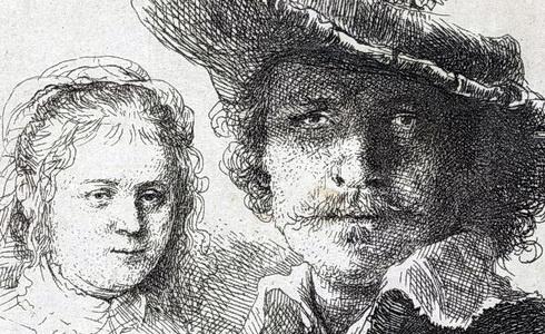 Rembrandt van Rijn – autoportrét a Saskie (1636)