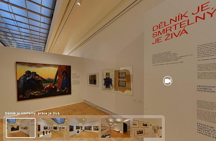 Virtuální prohlídka výstavy Dělník je smrtelný