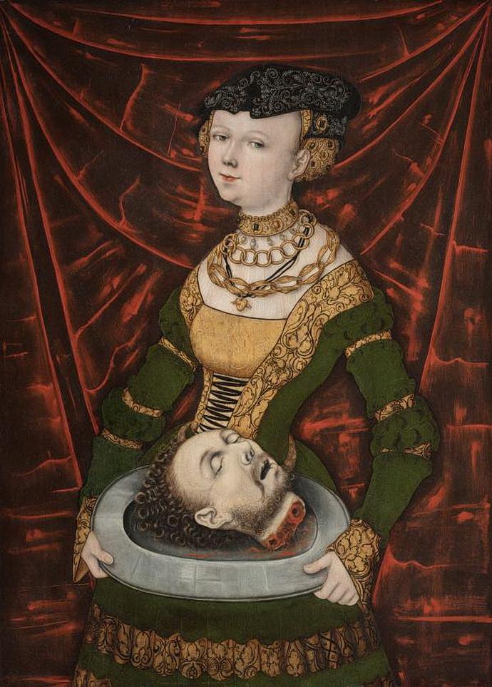 Mistr IW, Salome s hlavou sv. Jana Křtitele (1525)