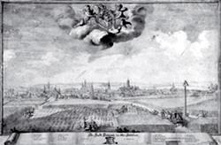 Johann Adam Delsenbach: Pohled na Opavu (kolem 1720)