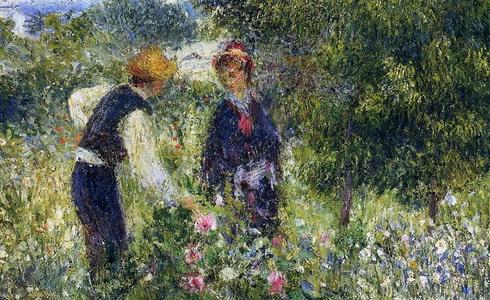 Auguste Renoir Picking Flowers