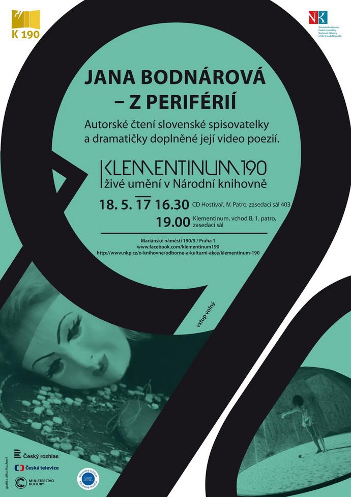 Jana Bodnárová – Z periférií (Poster na akci)