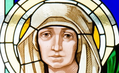 sv. Ludmila vitráľ