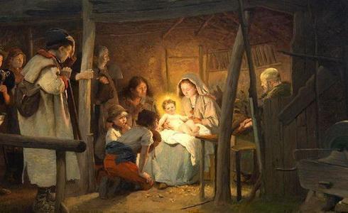 Václav Brožík – Narození Páně