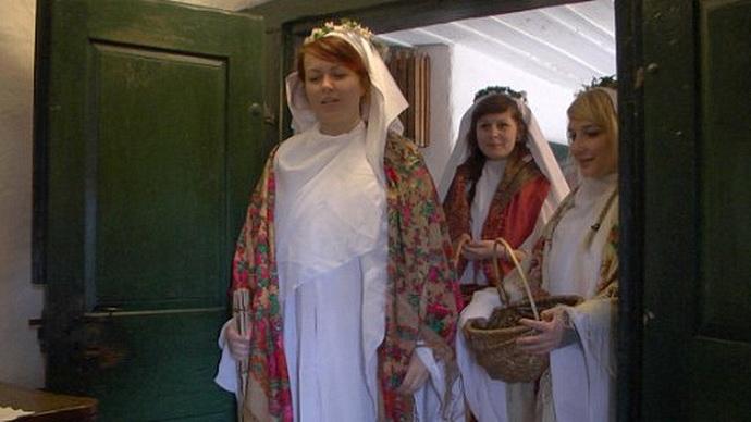 Svatá Barbora a svatá Lucie