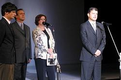 Zleva Ján Greššo, Darina Kárová a Ferdinand Vítek