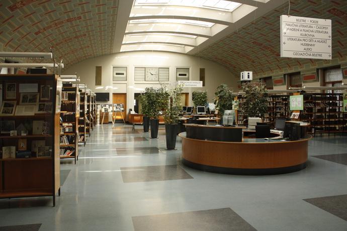Ústřední knihovna - interiér