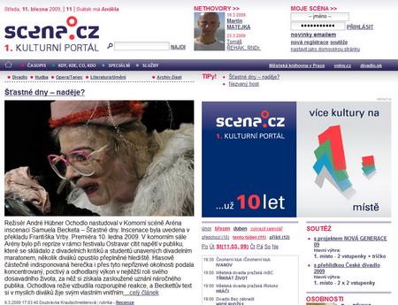 Scena.cz ... už 10 let