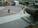 Pohled na prázdné náměstí