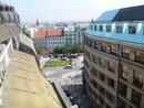 Výhled na Václavské náměstí.